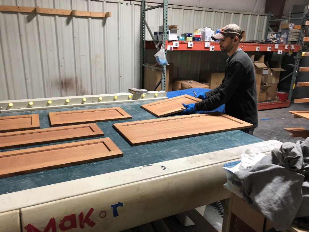 Grant loads doors top be top coated