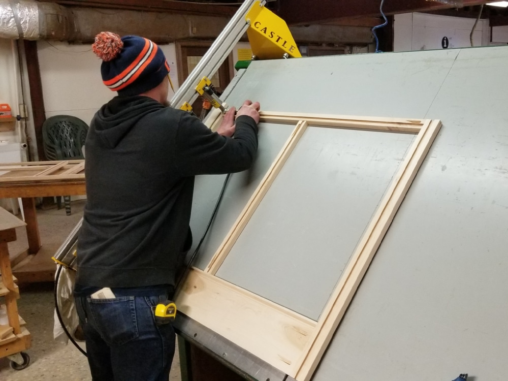 John squares up and constructs a cabinet frame