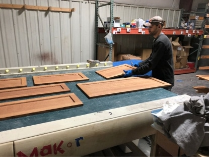Grant loads doors to be top coated